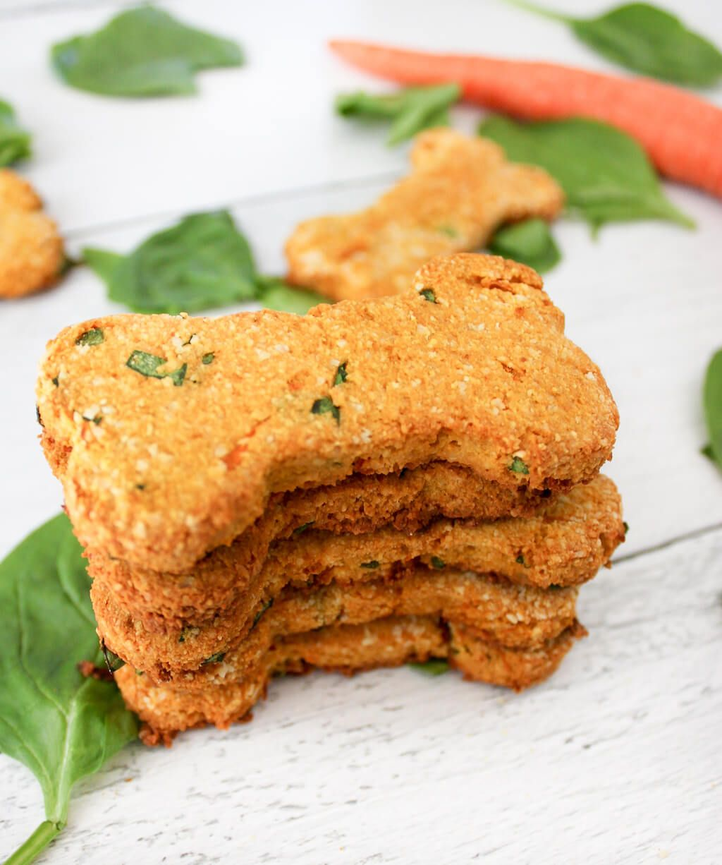 grain-free carrot and spinach dog treats