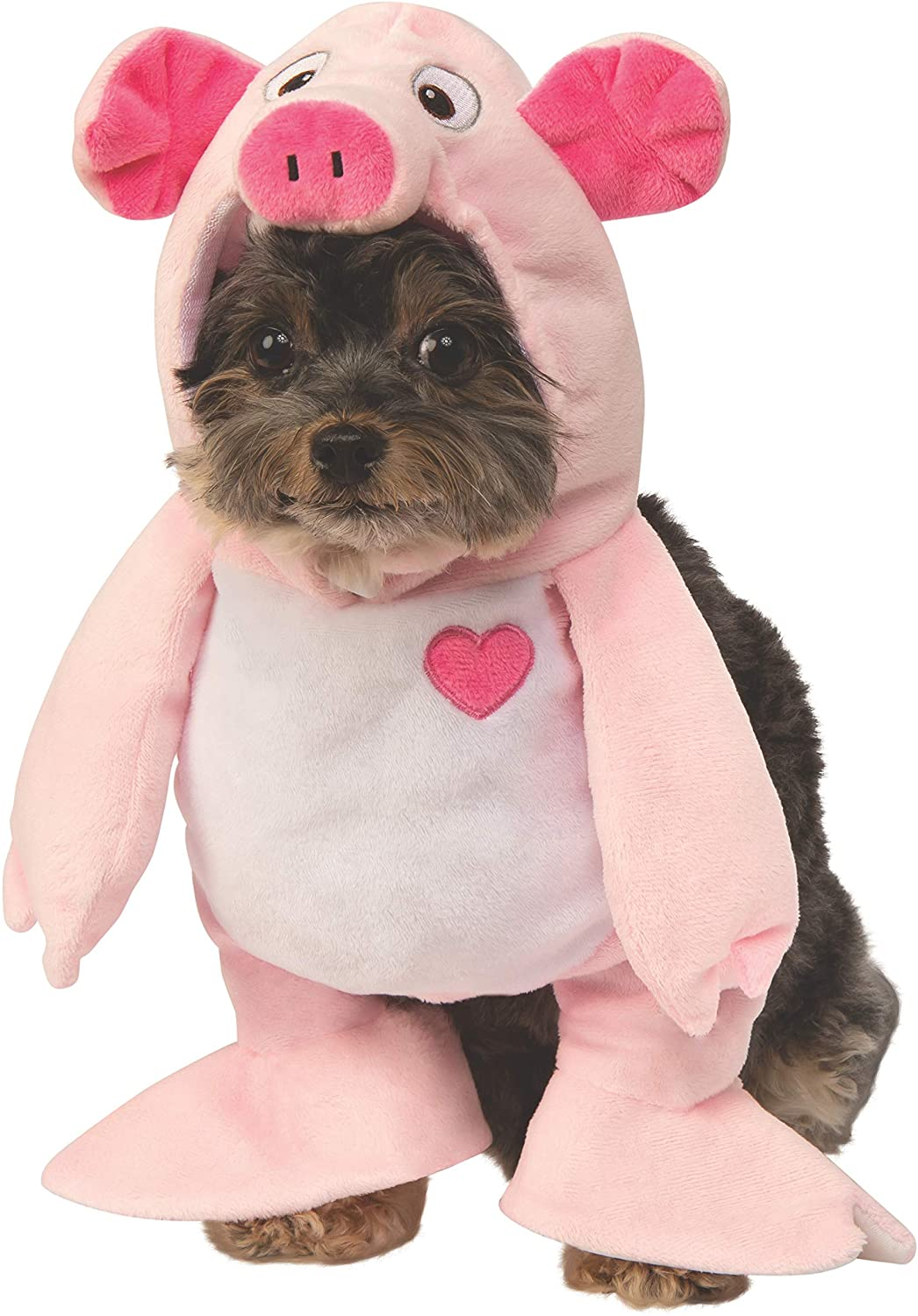 small dog wearing a pig dog costume